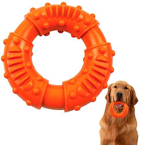 ZoneYan Hundespielzeug für Starke Kauer, Kauspielzeug für Hunde Ring, Hunde Kauspielzeug Gummi, Hundespielzeug Kauring, Kauring Hund Gummi Unzerstörbar, Kauspielzeug Hund Zahnpflege Spielzeug