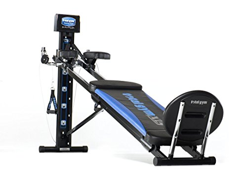 Total Gym XLS Men's and Women's Universal Total Body Home Gym Workout Machine with Ab Crunch Bench and More