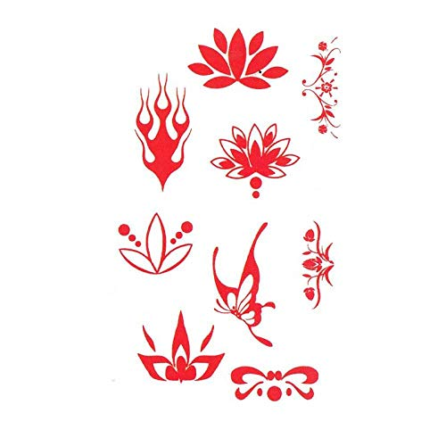 Kostüm Wu Mei Niang wasserdichte Tattoo Aufkleber Augenbrauen Stirn Kopfschmuck Persönlichkeit Abdeckung Flamme Schmetterling Bühne Make-up Aufkleber