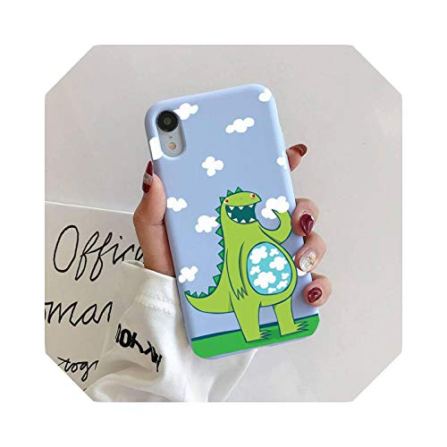 Cute dinosaurio - Carcasa de silicona para iPhone 11 Pro Max XR XS X Soft Candy Cover for iPhone 6 6S 7 8 Plus Cases-A11-For iPhone11Pro