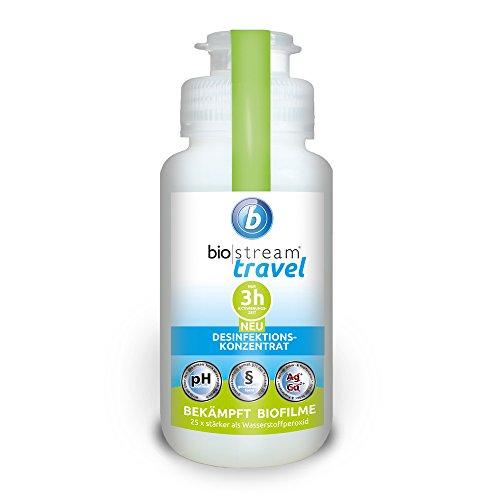 biostream® TRAVEL (250 ml) Chlordioxid zur Tank-u. Leitungsdesinfektion, Biofilmentfernung, Legionellenbekämpfung, Tankreinigung,Trinkwasserdesinfektionsmittel