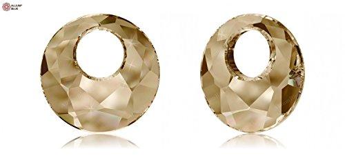 Cristaux de Swarovski 1139335 Pendentifs Cristal 6041 MM 38,0 Crystal GOL.Shadow, 6 Pièces