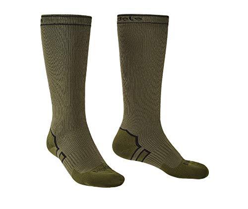 Bridgedale StormSock Midweight Knee Length Waterproof Merino Wool Sock, Khaki/Olive, XL