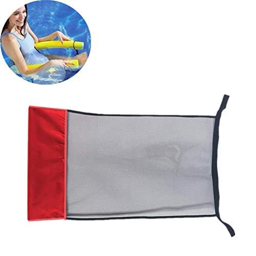 Muium(TM) 1Pc Schwimmstuhl Netz, schwimmender Stuhl Bett Schwimmbad Pool Pool-Nudel Netzstoff Schwimmender Sitz Schwimmnudeln Erwachsene Schwimmnudel Netz Schwimmstuhl,Outdoor-Sport Schwimmen (Rot)