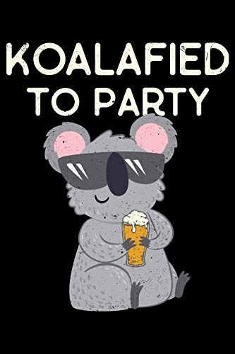 Koalified To Party: College Ruled Lined Writing Notebook Journal, 6x9, 120 Pages