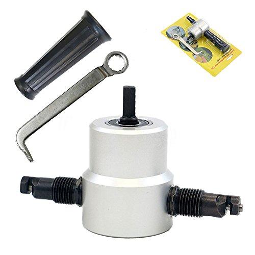 MAyouth Metel Schneiden Double Head Drill Ultimative Multi Knabber Adjustable Säge Cutter Power Tools Zubehör