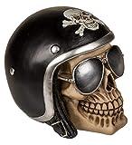 MIK Funshopping Hucha en forma de calavera (calavera con casco de moto negro)