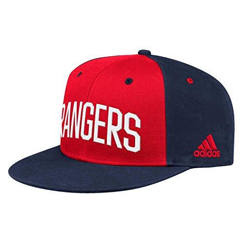 adidas New York Rangers 2019/20 NHL Flat Brim Snapback Cap, One Size