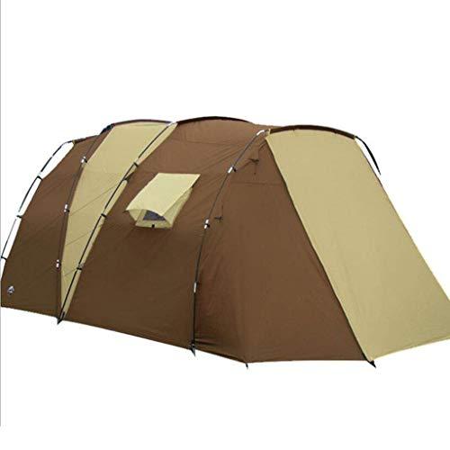 QGL-HQ Camping Multi-extérieur de Tente Personne Famille Double Couche Anti-tempête Tente de Plage Respirante