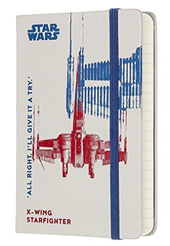 Moleskine - Agenda Diaria de 12 Meses de 2020 Star Wars Edición Especial Caza Estelar X,Wing con Tapa Dura y Cierre Elástico, Tamaño de Bolsillo 9 x 14 cm, 400 Páginas