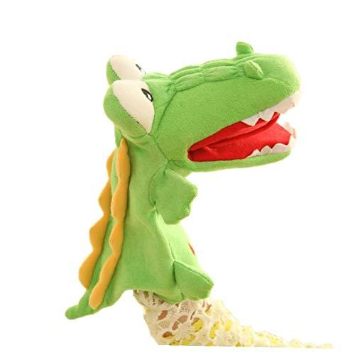 junfeng Burattino a Mano Cartoon Coccodrillo Mucca Peluche Marionetta a Mano Gioco di Ruolo Giocattolo Animale per la narrazione Insegnamento Teatro delle Marionette Bambini Giocattoli per Bambini