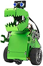 Robobloq Q-Dino 2 in 1 Programming Robot Kit, STEM Education, DIY Mechanical Building Programmable Robotic Toy with Remote Control for Kids, Learning How to Code