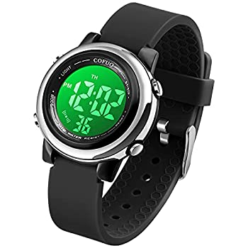 Kids Digital Sport Waterproof Watch for Girls Boys Kid LED Sports Outdoor Electrical Watches with Luminous Alarm Stopwatch Child Wristwatch