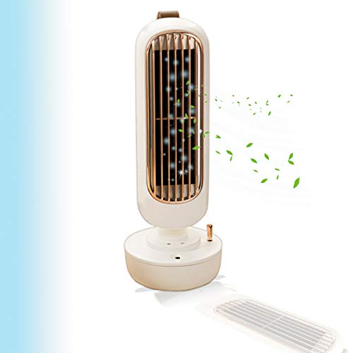 Portable Water Cooling Air Conditioner, Mini 3-Speed Evaporative Air Cooler, Desk Tower Fan With Evaporative Cooler And Humidifier For Home Office Outdoor With 220 Ml Water Tank Usb Charging