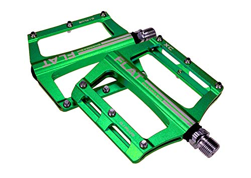 FrontStep Pedales Antideslizantes de Aluminio Pedales de Bicicleta fáciles para MTB/Pedal de...