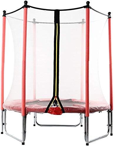 Trampoline verhoogde guardrail Trampoline met beschermende hek Indoor Jumping Kinderen Trampoline Outdoor Tuin Volwassen Gewichtsverlies Rood