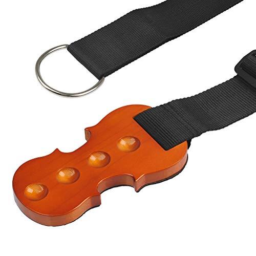 TIMESETL Cello Stopper Anti Rutsch Stopp Halter Massivholz Cello-Stachel Rest Anchor Schutz Auflage mit 4 Löcher Halter in Cello Form aus natürlichem Holz rutschfest Parkettschoner