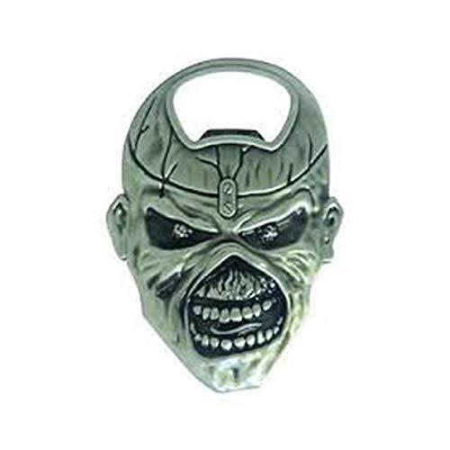 Iron Maiden flesopener, staal, zilver, 8,7 x 5,4 x 1 cm