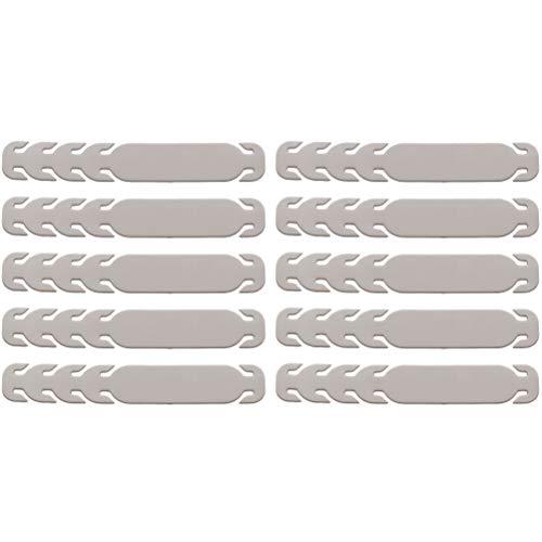 EXCEART 10 Stück Ohrschnur Verstellbare Schnalle Verlängerung Schnalle Ohr Seil Ohr Tragen Schnalle Kunststoff Ohrhaken für Alle Arten von Maske (Grau)
