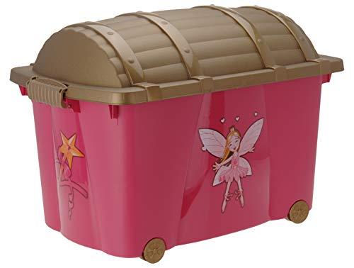 Aufbewahrungsbox für Mädvhen mit 57 Liter Volumen - Prinessin Box - Spielzeugtruhe Fee Spielzeugbox Kinderzimmer Aufbewahrungsbox