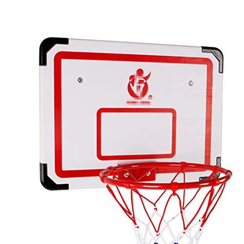 MHCYKJ Canasta Baloncesto Interior Puerta Mini Aro De Sistema Ocio con BalóN Y Bomba Infantil Pelotas para Puertas Casa Oficina