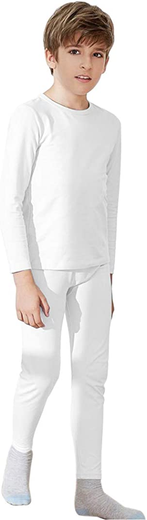 WUHOUPRO Boy's Ultra Soft Super Comfy Fleece Lined Thermal Underwear Sets