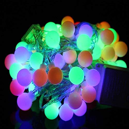 HYJMJJ Led Ball String Light Ball Chain Fairy Garland Lights Bulb Light Waterproof for Outdoor Wedding Christmas Home Decor 20 LEDs 3M Colorful