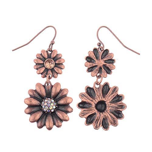 Orecchini di vento nazionale brillante sole fiore temperamento unghie unghie piene di temperamento personalità unghie unghie unghie accessori di moda accessori di moda