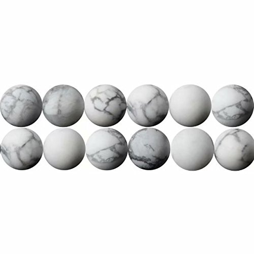 Natürliche Weißer Howlith Edelsteine Perlen 6mm für Armbänder Auffädeln 38cm Strang Approx 60 Stück
