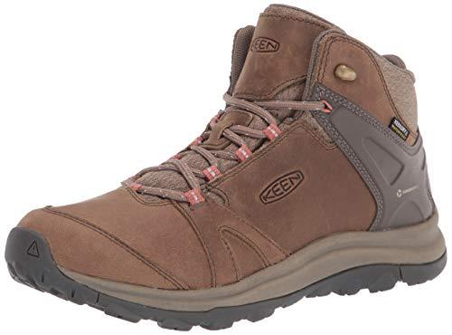KEEN Women's Terradora 2 Leather Mid Height Waterproof Hiking Boot, Brindle Redwood, 3 UK