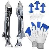 5 en 1 quita silicona herramienta, kit de calafateo Equipado con raspador de acabado de ca...