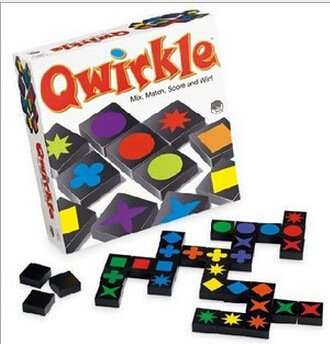 Qwirkle Brettspiel weiß 2