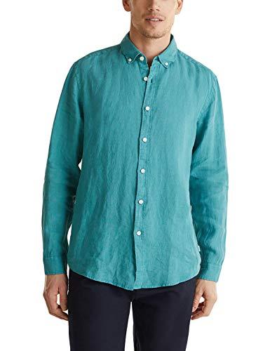 ESPRIT 030ee2f302 Camicia, 370/Verde, XL Uomo