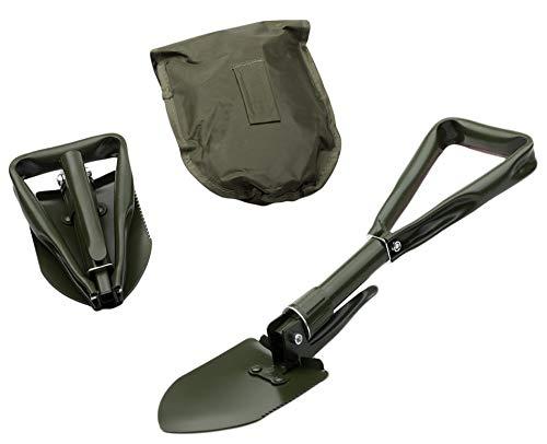KOSxBO® Premium BW Klappspaten mit Säge und Tasche (Faltspaten) im klassischen Oliv für die Survivalausrüstung - Prepper Gear -
