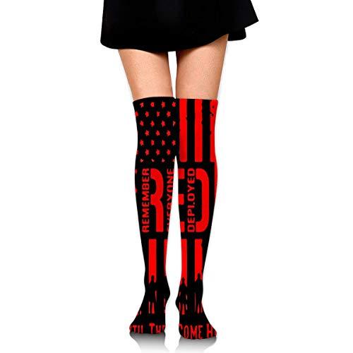 Nice-Guy RED Friday Recuerda que todos usaron medias altas hasta la rodilla sexis para mujer, medias altas