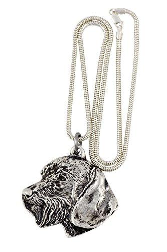 NEU, Teckel, Dackel (Wirehaired), Hundehalsband, Silber-Kette 925, Limitierte Auflage, ArtDog