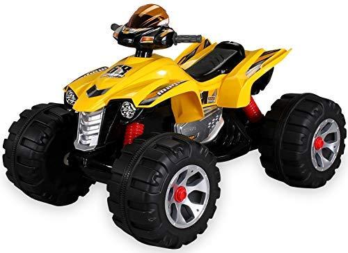 Actionbikes Motors Kinder Elektro Quad Burst 2 x 35 Watt Motor Original Kinder Elektro Auto Kinderauto Kinderfahrzeug (gelb)