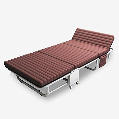 Unbekannt Klappbares Campingbett - Einzelklappbett mit Taschenfedermatratze für 200 kg, geeignet zum Wandern und für den Außenbereich, Größe 190 * 63 * 40 cm