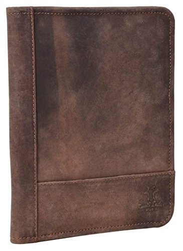 Gusti Leder studio 'Crane' porta documenti agende quaderni tablet fino 7,9'' vintage marrone antico 2S28-26-3