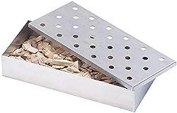 Rosenstein & Söhne Smokerbox: Räucherbox aus rostfreiem Edelstahl, für Gas- und Holzkohlegrills (Smokebox)