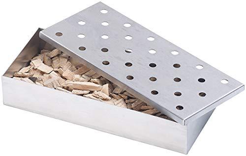 Rosenstein & Söhne Smokerbox: Räucherbox aus rostfreiem Edelstahl, für Gas- und Holzkohlegrills (Räucherdose)