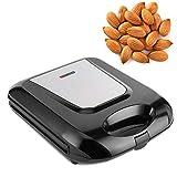 【𝐇𝐚𝐩𝐩𝒚 𝐍𝐞𝒘 𝐘𝐞𝐚𝐫 𝐆𝐢𝐟𝐭】Máquina eléctrica para hacer nueces, 1400 W, calefacción de doble lado, tuerca eléctrica, nueces, galletas, galletas, máquina de desayuno(Negro)
