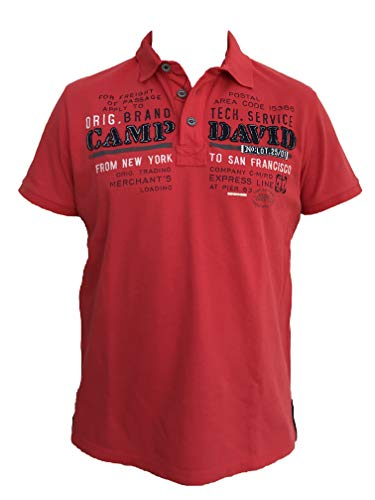 Camp David Polo Shirt Azure CCU-1900-3709 (XXL, red Sky)