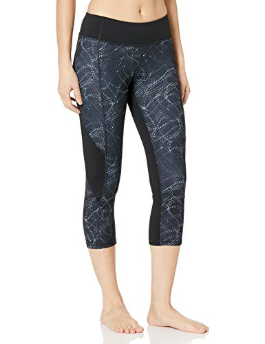 Hanes Women's Sport Performance Capri Legging, Swirl Dots Concrete, L
