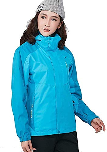 ZHAO Winter Berg Jacke Winddicht Warm Ski Snowboard-Jacke Paar Wear (Color : Blue(w), Size : XXL)