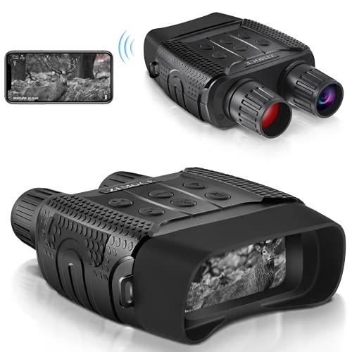 ZIMOCE デジタル赤外線ナイトビジョン双眼鏡 赤外線ナイトビジョンゴーグル ハンティング用 2.32インチTFT液晶 ナイトビジョンスコープ 1M HD写真作成 960Pビデオ 300m/984フィート 表示範囲
