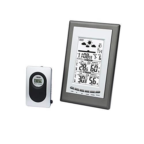 Balala Weerstation, draadloos weerstation digitale wekker binnen/buiten thermo-hygrometer