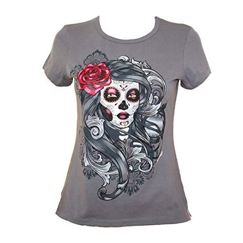 Micuari Camiseta con diseño Mexicano, Catrina (XL)