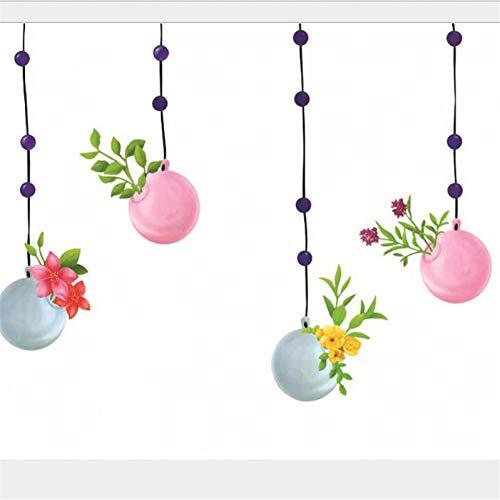 YCEOT Cartoon Ballonnen met Bloemen DIY Muurstickers Woonkamer Slaapkamers Wanddecoratie Muurstickers voor Kinderkamers