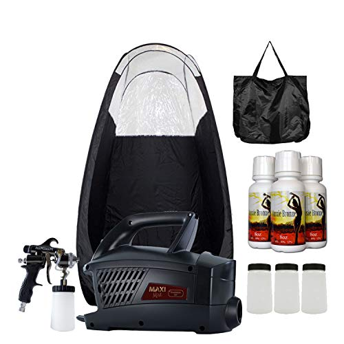 MaxiMist Evolution Pro HVLP Spray Tanning System with Pop Up Tan Tent Black